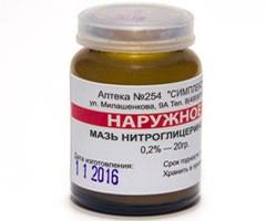 «Нитроглицериновая мазь»