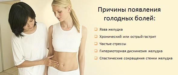 Причины появления голодных болей в желудке