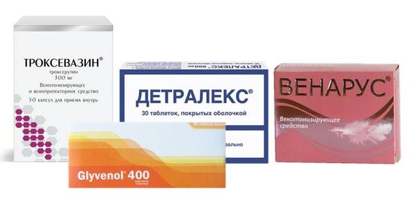 Веноукрепляющие таблетки при геморрое