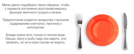 Принципы диеты №5