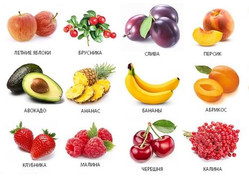 Разрешённые фрукты и ягоды при панкреатите
