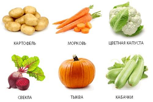 Разрешённые овощи при панкреатите