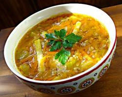 Вегетарианский суп с гречкой