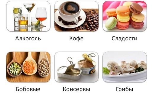 Запрещённые продукты при панкреатите