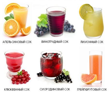 Запрещённые соки при панкреатите