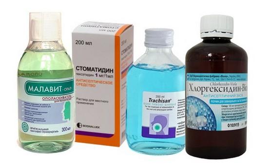 Антисептические средства для полоскания рта
