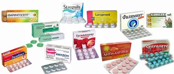 Лекарства от боли в горле